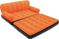 Best Way Karmax PVC 3 Seater Inflatable Sofa (Color - Orange) PVC 3 Seater Inflatable Sofa(Color - Orange)
