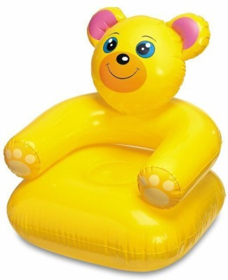 Skys&Ray teddy PVC 1 Seater Inflatable Sofa(Color - Yellow)