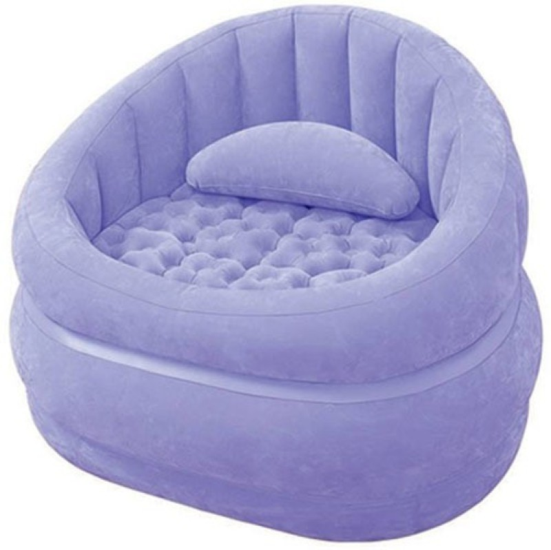 Intex 68563 Vinyl 1 Seater Inflatable Sofa(Color - Purple)