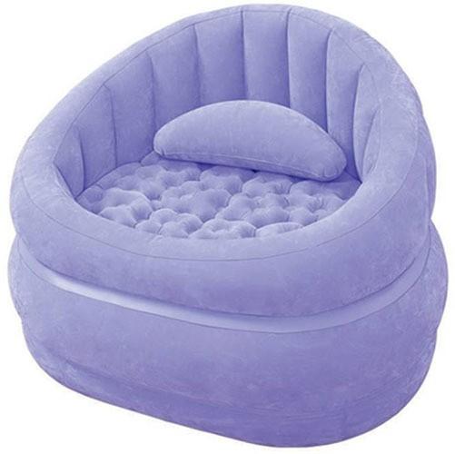 View Intex 68563 Vinyl 1 Seater Inflatable Sofa(Color - Purple) Furniture (Intex)
