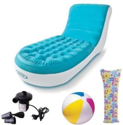 Intex Blazon Original Splash Lounge PVC 1 Seater Inflatable Sofa(Color - Blue)