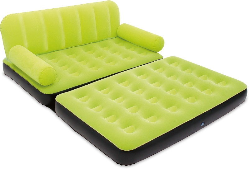 Best Way Karmax PVC 3 Seater Inflatable Sofa (Color - Green) PVC 3 Seater Inflatable Sofa(Color - Green)