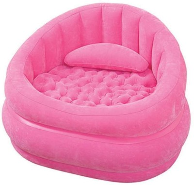 Intex 68563 Vinyl 1 Seater Inflatable Sofa(Color - Pink)