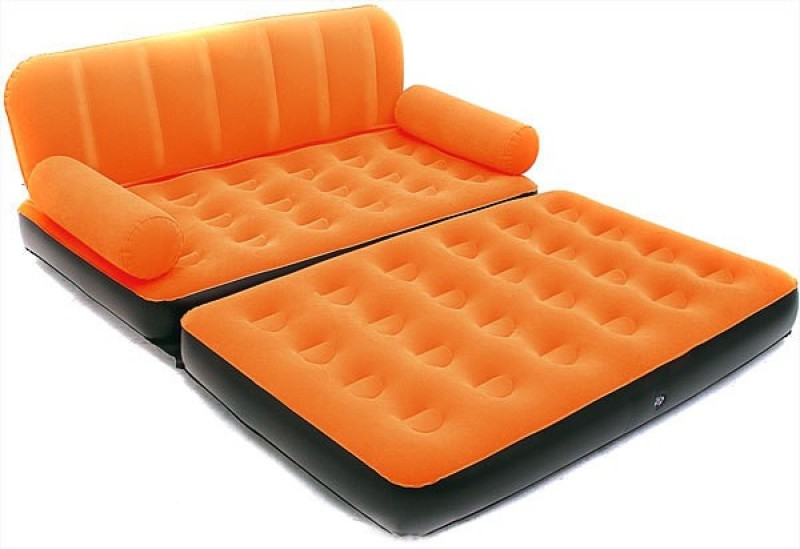 Shopper 52 Bestway Flcoked PVC Inflatable Plastic Double Sofa Bed(Mechanism Type - Fold Out)