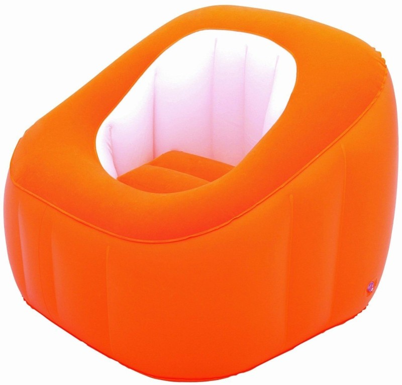 Best Way Karmax Comfi Cube Chair (Orange) PVC 1 Seater Inflatable Sofa(Color - Orange)