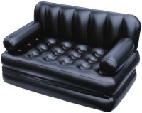Amazing Health & Fitness PVC 3 Seater Inflatable Sofa(Color - Amazing Black)