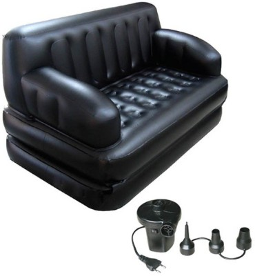 Lovato CLASSY Mahogany 2 Seater Inflatable Sofa(Color - black)