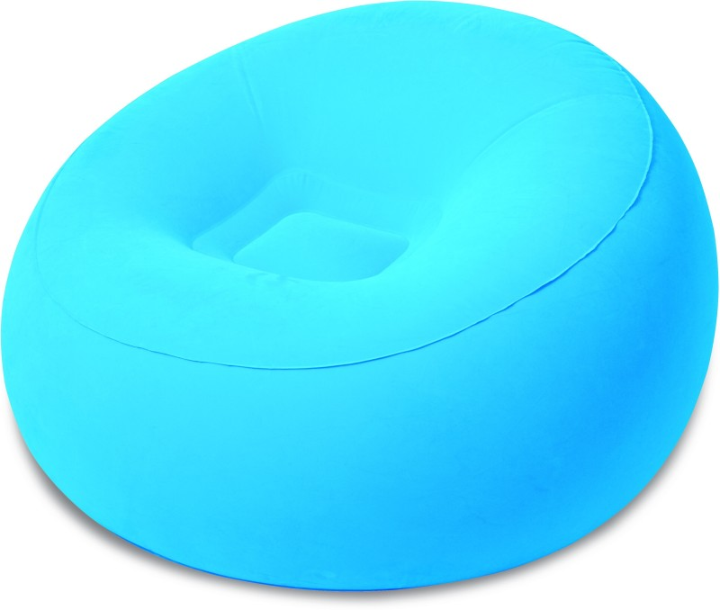 Best Way Karmax Inflate-A-Chair (Blue) PVC 1 Seater Inflatable Sofa(Color - Blue)