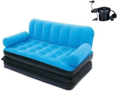 SRB 1.88m x 1.52m x 64cm Multi-Max Air Couch With Sidewinder AC Air Pump. PVC 2 Seater Inflatable Sofa