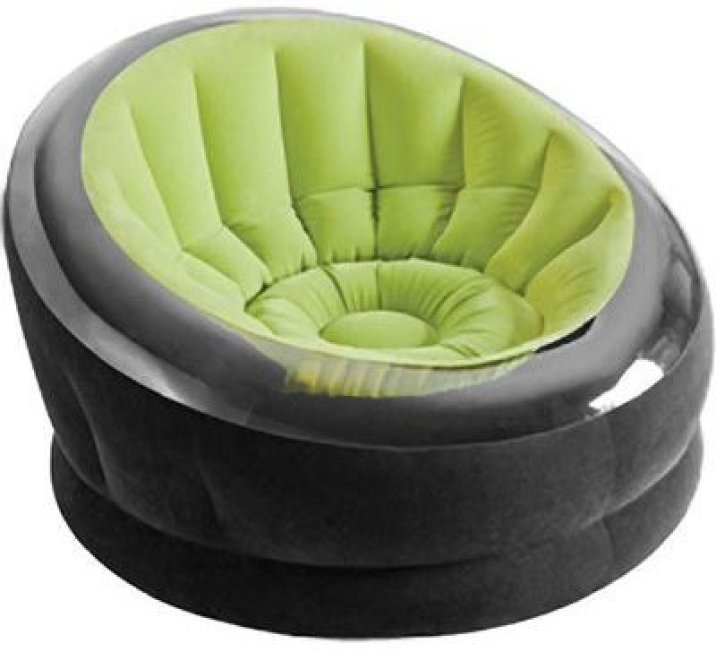 Intex 68582 Vinyl 1 Seater Inflatable Sofa(Color - Green)