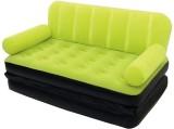 Shrih Double Velvet Bed Air Lounge Cum P...