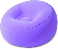 Best Way Karmax Inflate-A-Chair (Purple) PVC 1 Seater Inflatable Sofa(Color - Purple)