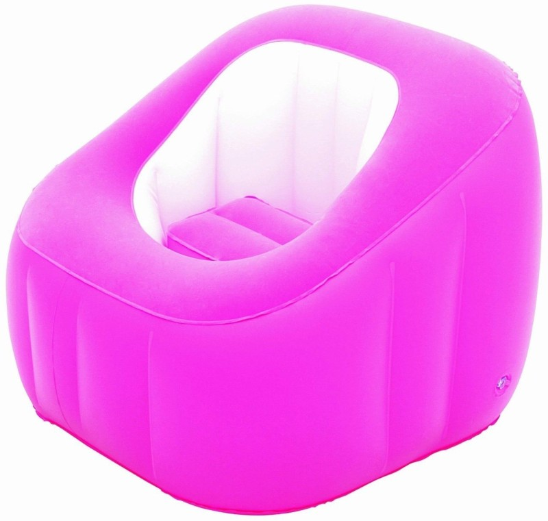 Best Way Karmax Comfi Cube Chair (Pink) PVC 1 Seater Inflatable Sofa(Color - Pink)
