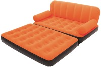 Everything Imported Vinyl 2 Seater Inflatable Sofa(Color - Orange)