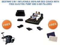 Best Way Karmax PVC 3 Seater Inflatable Sofa (Color - Black) PVC 3 Seater Inflatable Sofa(Color - Black)