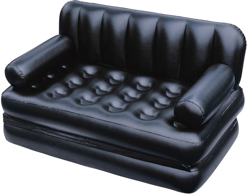 Khareedi 75056 PVC 3 Seater Inflatable Sofa(Color - Black)