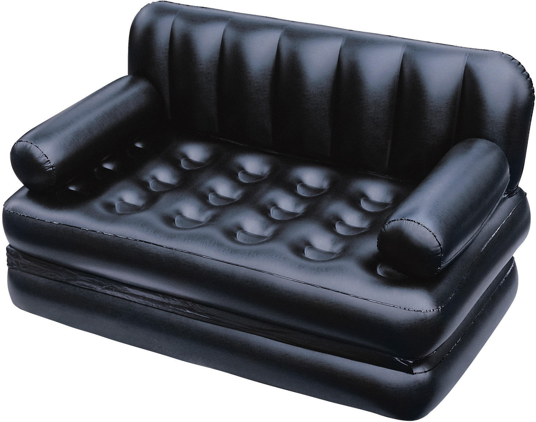 View Khareedi 75056 PVC 3 Seater Inflatable Sofa(Color - Black) Furniture (Khareedi)