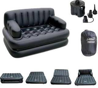 View Adil PP 4 Seater Inflatable Sofa(Color - White) Furniture (Adil)