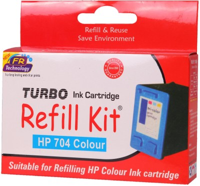 Turbo Ink Refill Kit for HP 704 cartridge: Multicolor Ink