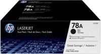 HP 78A Black Dual Pack LasetJet Toner Cartridge(Black)