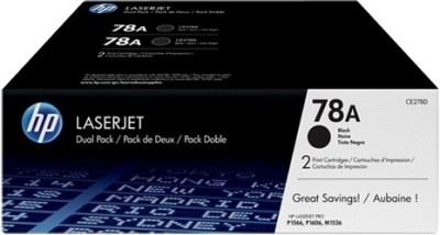 HP 78A Black Dual Pack LasetJet Toner Cartridge