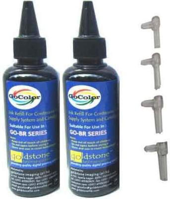 GoColor Brother Premium Quality Inkjet Compatible Ink 100 ML X 2 Black Color & Easy Refilling Cube Black Ink