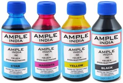 Ample India 100ML Compatible for Epson L100,L110,L200,L210,L300,L350,L355,L550,L555 Multicolor Ink
