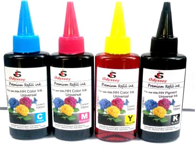 Odyssey Universal Ink for use in HP/ Canon/ Brother/ Samsung Inkjet Printers Multicolor Ink