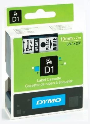 Dymo D1_19mm Black on White Toner