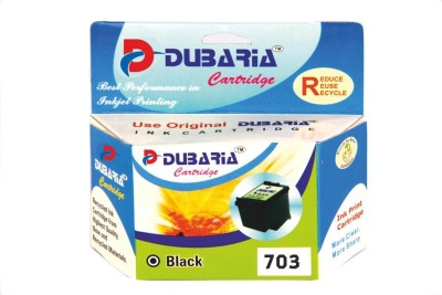 Dubaria 703 / CD887AA Cartidge - HP Compatible For Use in Deskjet D7301, F7351, K109a ,K109g , K209a , K209g K510a HP Officejet Advantage 4500 All-in-One Black Ink