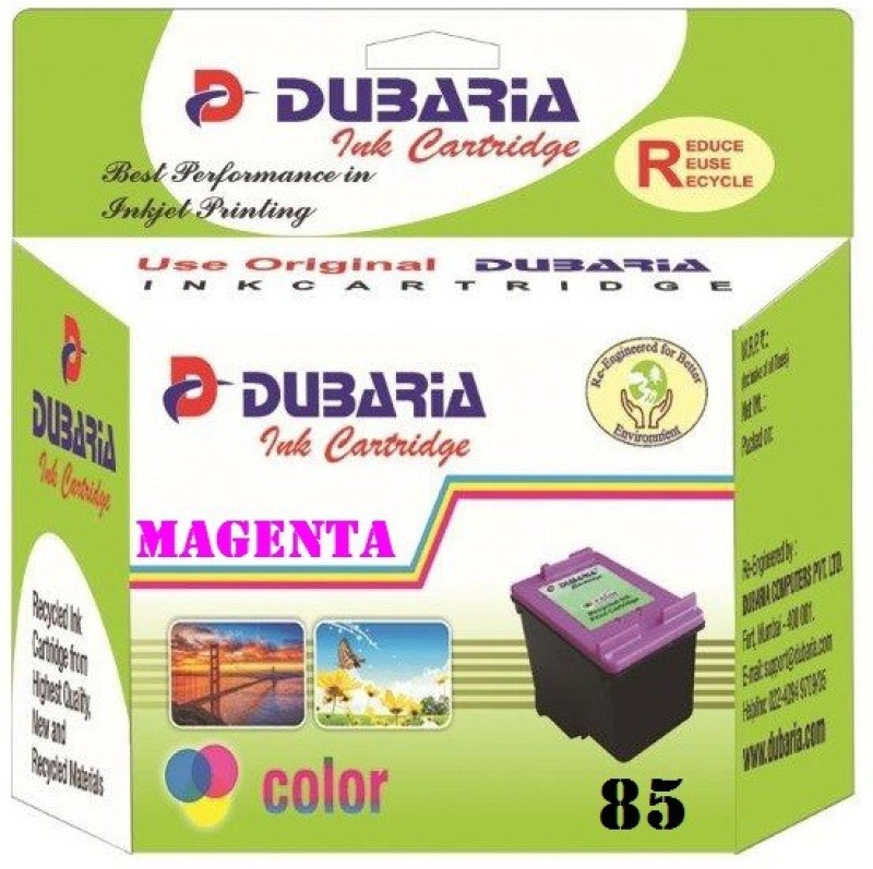 Dubaria 85N Magenta Ink Cartridge For Use In Epson Stylus Photo 1390, Epson Stylus Photo T60 Single Color Ink(Magenta)