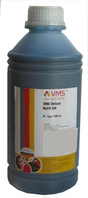 VMS 1 Liter For Epson/Canon/Brother/HP Printers Cyan Ink