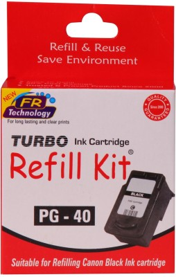 Turbo Ink Refill Kit for Canon PG 40 cartridge Black Ink