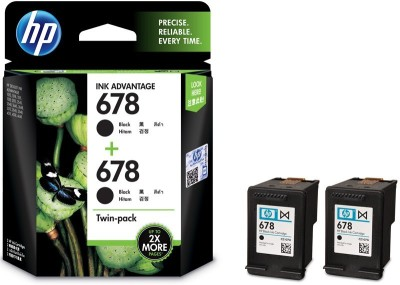 HP 678 Twin Pack Single Color Ink(Black)