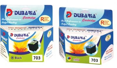 Dubaria Compatible HP 703 Black & color Ink Cartridge combo Multicolor Ink
