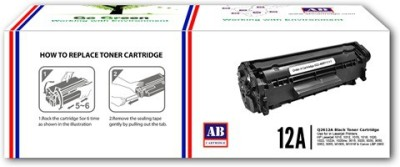 AB Cartridge 12A / Q2612A Cartridge - HP Compatible For Use in Laserjet 1010, 1012, 1015, 1018, 1020, 1022, 1022n, M1005 , M1319f , 3015 , 3020 AIO, 3030 AIO, 3050 AIO, 3050z AIO, 3052 AIO, 3055 AIO Black Toner