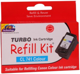Turbo Ink Refill Kit For Canon Cl 741 Cartridge: Multicolor Ink