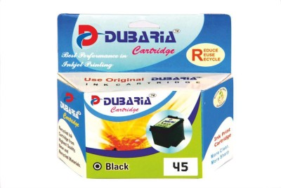 Dubaria 45 / 51645AA Cartridge - HP Compatible For Use In DeskJet 712, 720, 722, 820, 830, 832, 850, 855, 870, 880, 882, 890, 895, 930, 932, 935, 950, 952, 960, 970, 990, 995, 1100, 1120, 1180, 1220, Black Ink