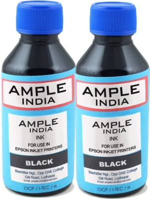 Ample India 100ML Compatible for Epson L100,L110,L200,L210,L300,L350,L355,L550,L555 Black Ink