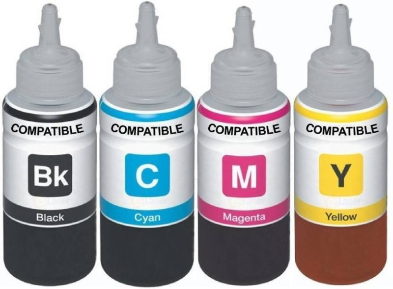 Dubaria Universal Refill Ink Compatible For Use In Canon InkJet Printers, CISS & Refill Ink Cartridges - Cyan, Magenta Yellow & Black - 100 ML Each Bottle Single Color Ink(Black)