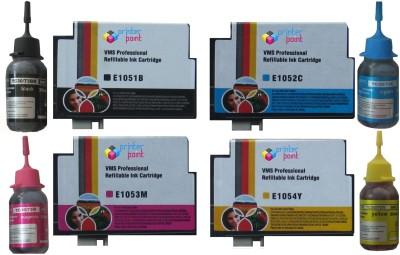VMS 73n Refillable Cartridge Set For Epson prefilled 4*10ml Photo Dye Multicolor Ink