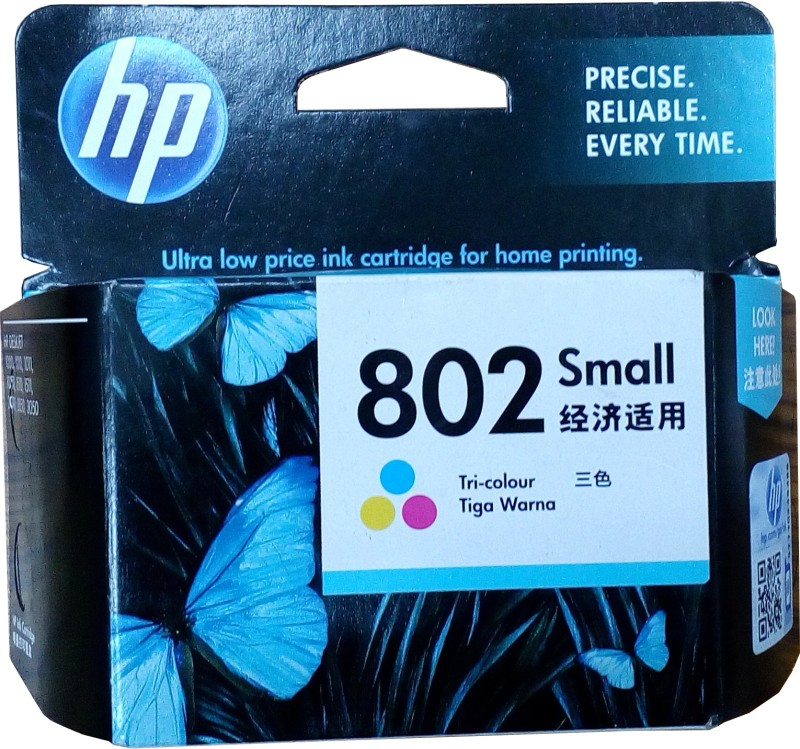 HP 802 Small Tri color Ink cartridge(Black, Magenta, Cyan, Yellow)