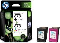 HP 678 Combo Pack Multi Color Ink(Black, Magenta, Cyan, Yellow)