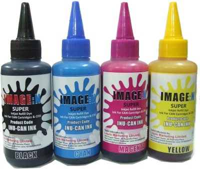 Tip Top Colors Canon Premium Quality Inkjet Compatible Ink 100ml X 4 Color Multicolor Ink