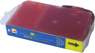 Max BCI-6R Compatible Red Cartridge For Canon Printer Prefilled Red Ink