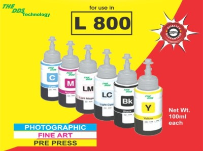 DDS Epson L800/L810/850/R230/T60/M6733/B6731/Y6734/C6732/Lc6735/Lm6736-6 Colour Set - 100Ml) Multicolor Ink
