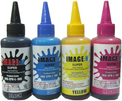 Tip Top Colors L Series Premium Quality Inkjet Compatible Ink 100 ML X 4 Colours (Dye Ink Combo) Multicolor Ink