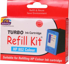 Turbo Ink Refill Kit for HP 802 Color Cartridge Multi Ink
