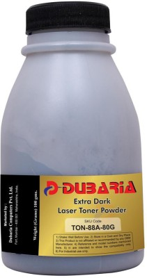 Dubaria Extra Dark Powder for HP 88A / Cartridge-80 Grams Black Toner