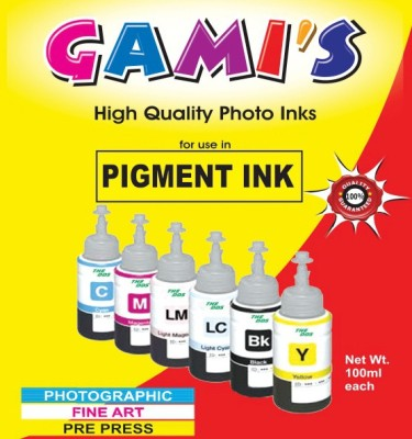DDS Professional Pigment Ink 100 Ml X 6 Colours For Inkjet Printer Multicolor Ink